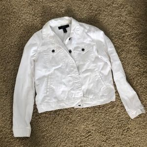 Forever 21 white jean jacket